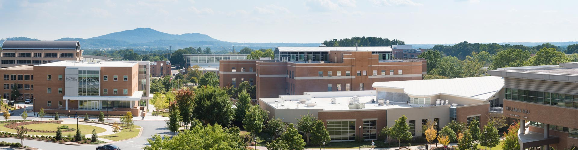 Kennesaw Campus with Kennesaw Mountain in the background